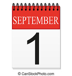first of September on your calendar