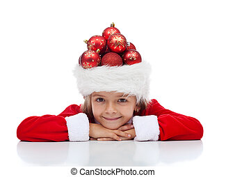 Christmas celebration and preparation concept with little...