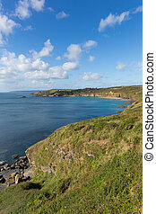 Kenneggy Sand Cornwall England west of Praa Sands and...