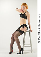 Glamorous 50s Pinup - Glamourous 50s style pin up