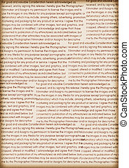 Text on old paper