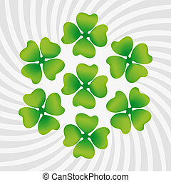 Clover symbol of St Patricks Day