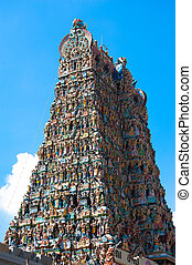 Great South Indian architecture, Meenakshi Temple in Madurai...