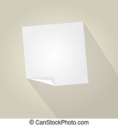 Empty Paper With Trendy Long Shadow