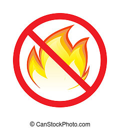 No fire sign  - No fire vector sign