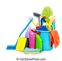 cleaning equipment - Kit for cleaning on white background