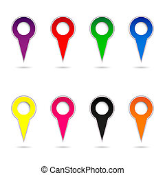 Collection of color arrows