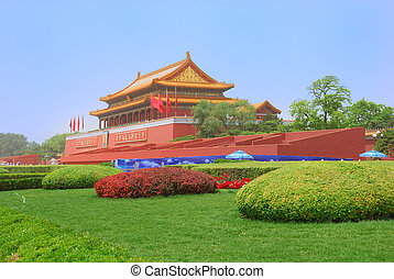 Tiananmen Gate Tower of Forbidden City in China