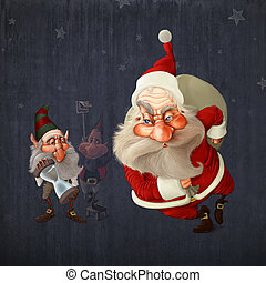 Santa Claus begins the delivery of gifts