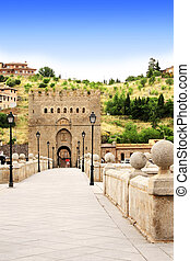Bridge of Toledo, Spain - Famous Toledo bridge in Spain