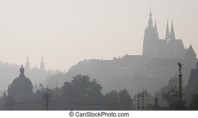 Fog silhouettes in Prague