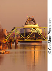 Dawn Coal Ship at Bridge in Detroit steel mill