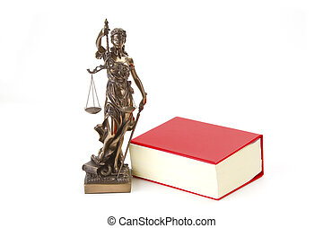 Justice with scales for Law and Justice on bright background