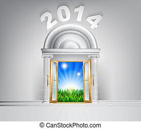 New Year Hope Door Concept 2014 - New Year 2014 door concept...