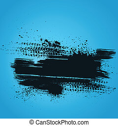Blue tire track background - Blue background with white...