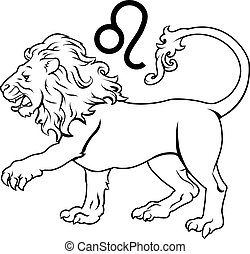 Leo zodiac horoscope astrology sign - Illustration of Leo...