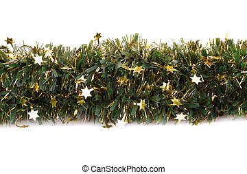 Christmas garland isolated on white background.
