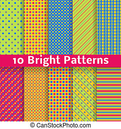 Abstract geometric bright seamless patterns tiling Vector -...