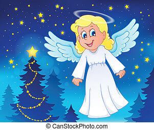 Angel theme image 5 - eps10 vector illustration