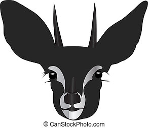 antelope head silhouette vector illustration
