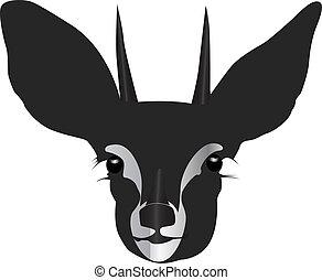 antelope head silhouette vector illustration
