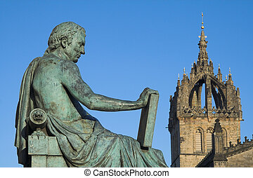 David Hume and St Giles Cathedral, Edinburgh - Monument to...