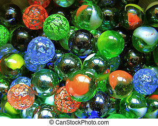 glass marbles - colorful glass marbles
