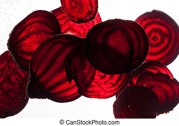 sliced raw beet