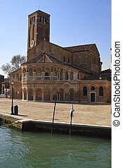 Church on water - Church on the canal edge in Murano