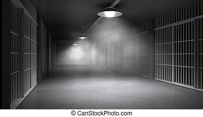 Haunted Jail Corridor And Cells - An eerie haunting corridor...