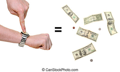 hands indicating that time is money