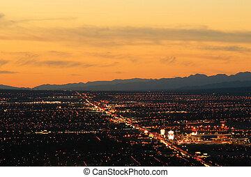 Las Vegas Aerial Shot - Aerial shot taken in Las Vegas,...