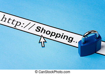Online shopping security - Computer Screen, concept of...