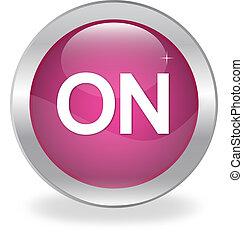 Internet button labeled quot;ONquot; - Internet button...