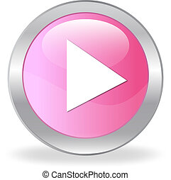 Pink quot;playquot; button - Pink play button