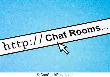 Internet Chat Rooms - Computer Screen, concept of Internet...