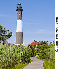 Lighthouse on Fire Island, New York