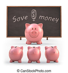 Save Money - Piggy bank teaching students to save money...
