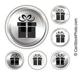 Collection of web elements with gift sign