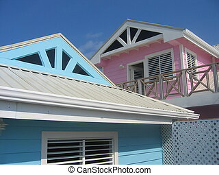 bungalow - Nice bungalows close to the beach on a tropical...