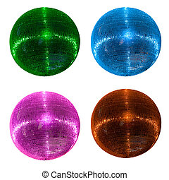 Collorful disco balls - Collection of colorful disco balls...