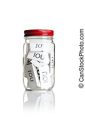 IOU%u2019s in a jar