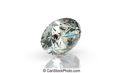 Oval Cut Diamond - Oval cut diamond on white seamless