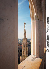 view of Milan Cathedral