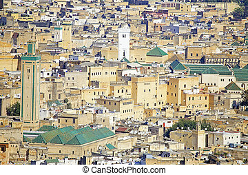 View of Kairaouine Mosque in Fes, Morocco, Africa