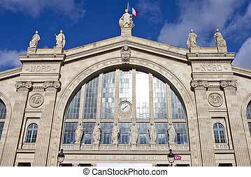 Gare du Nord in Paris - The main entrance to Gare du Nord...