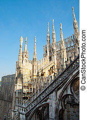 View of Milan Cathedral in Italy