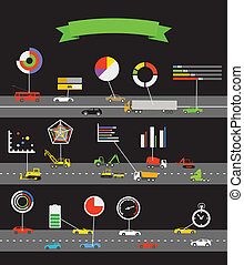 Transportation scheme with infographoc elements