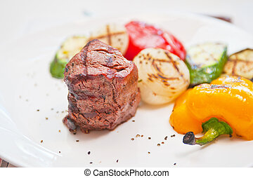 beef meat and vegetable - grilled beef meat and vegetable