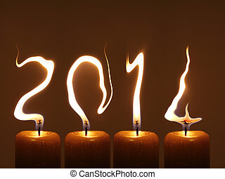 Happy new year 2014 - PF 2014 - Modified photo of four...